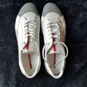 Prada white sneakers
